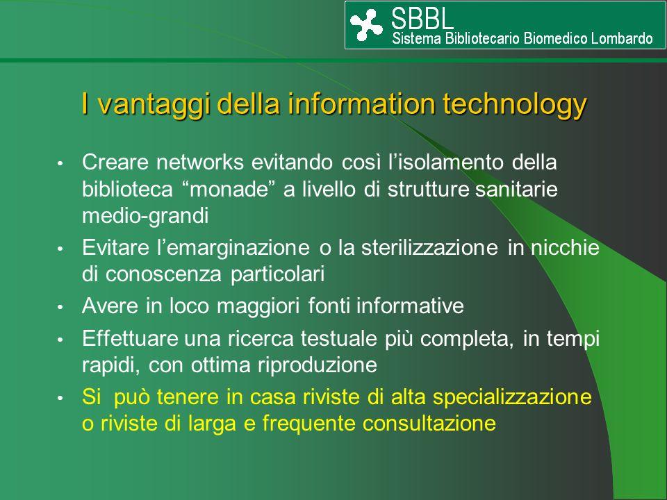 I vantaggi della information technology