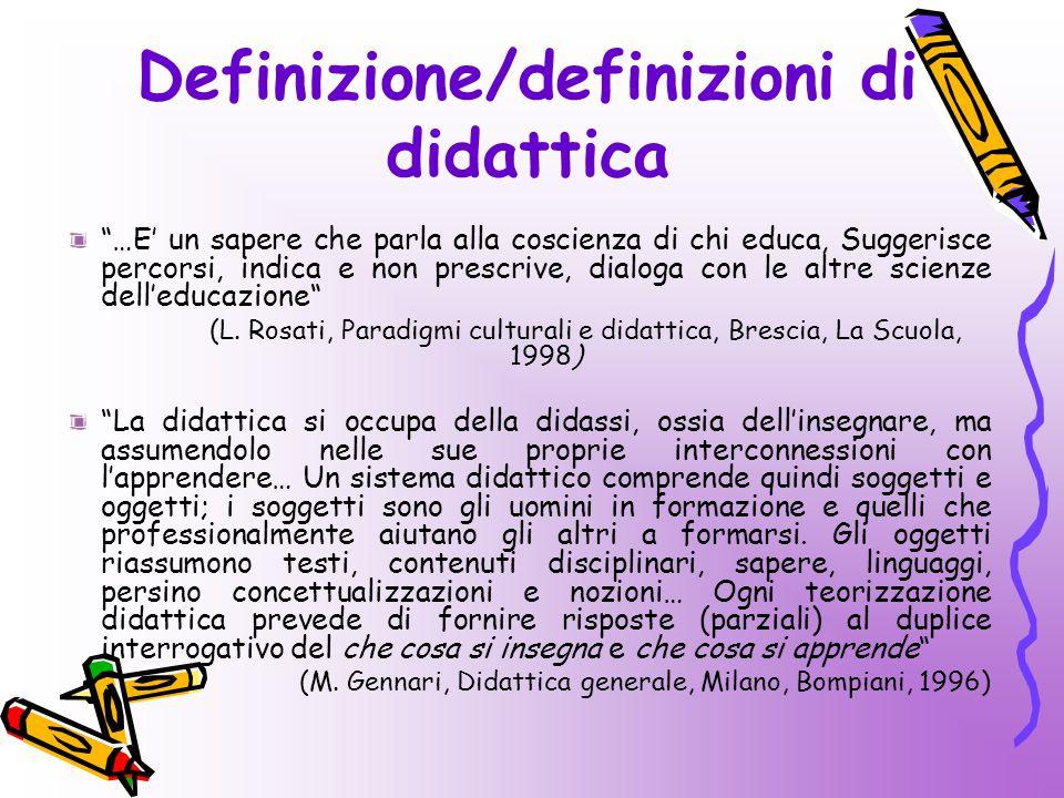 Definizione/definizioni di didattica