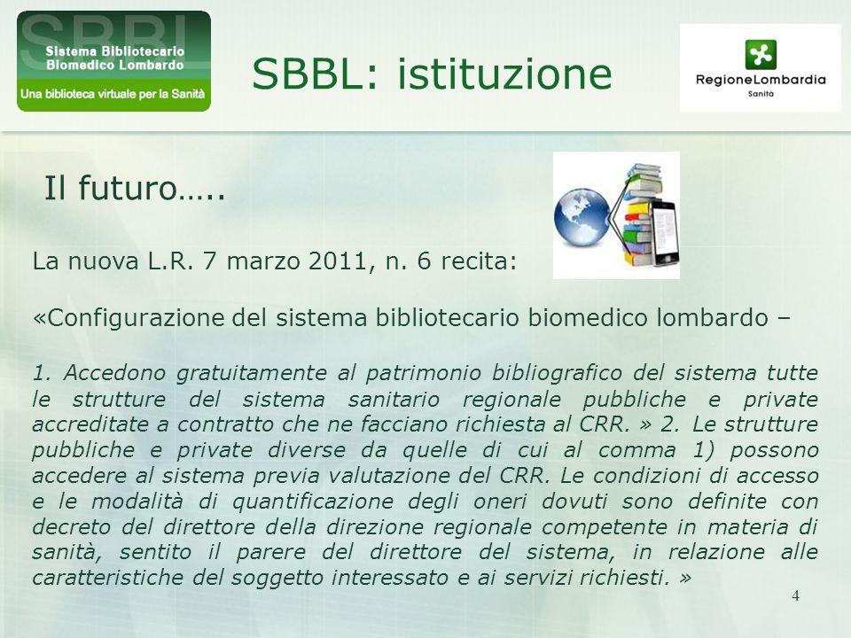SBBL: istituzione Il futuro…..