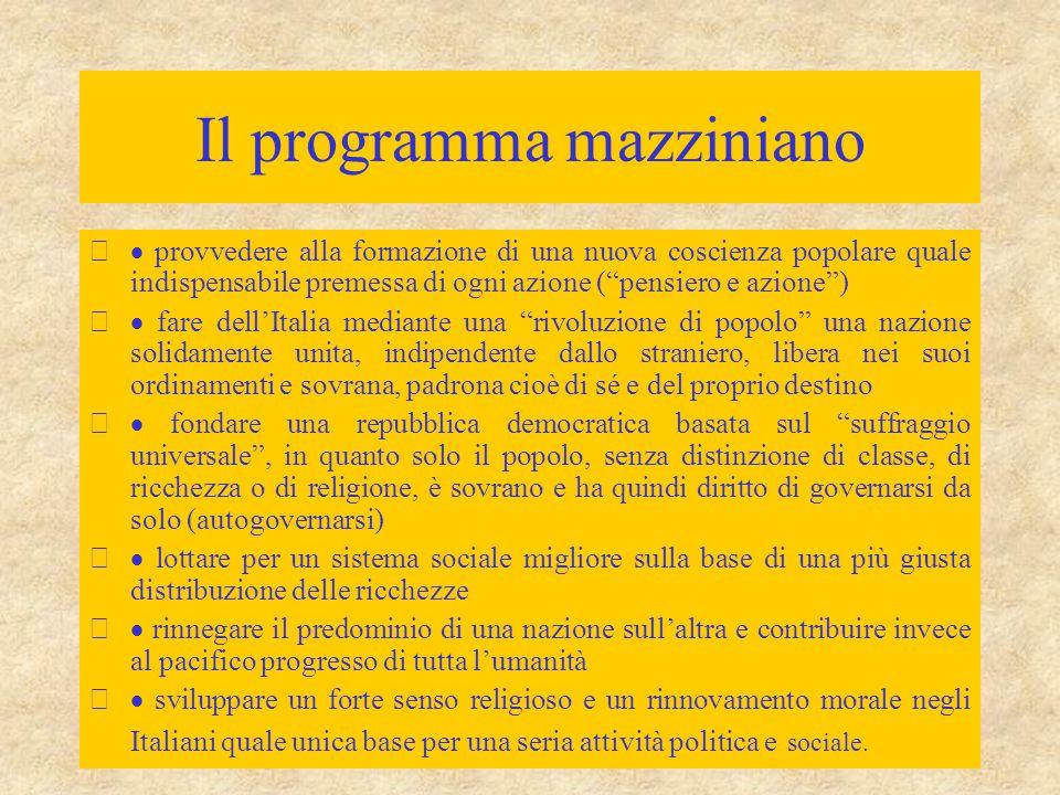 Il programma mazziniano