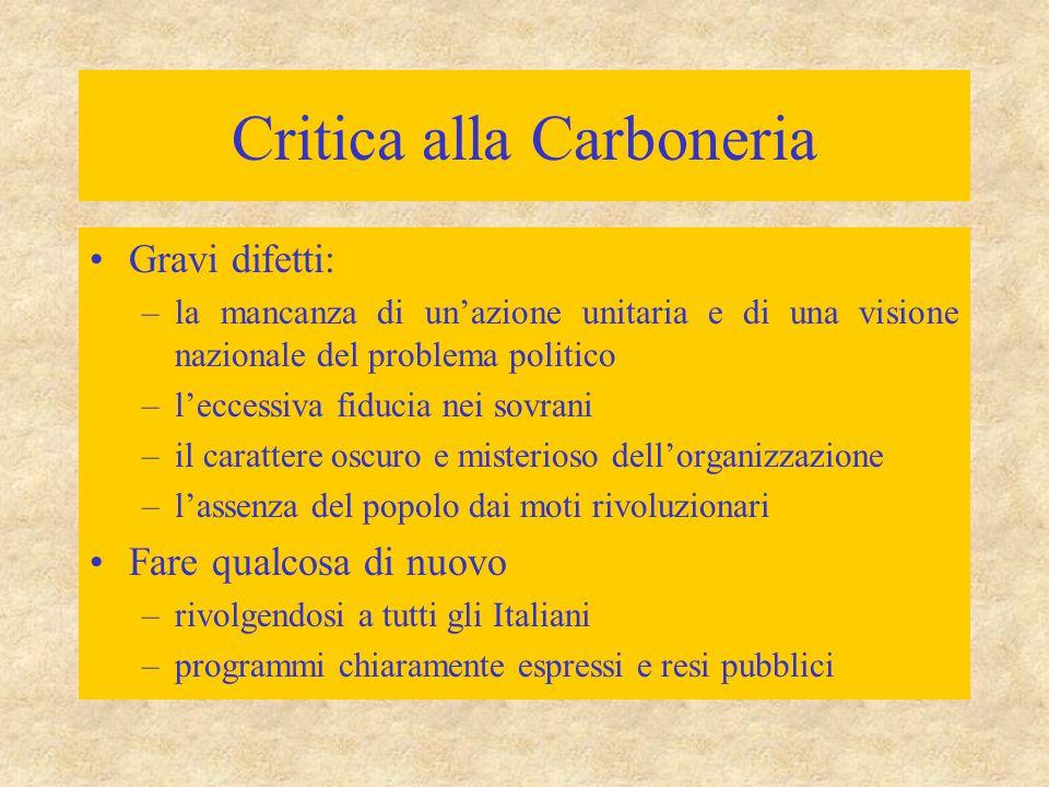 Critica alla Carboneria