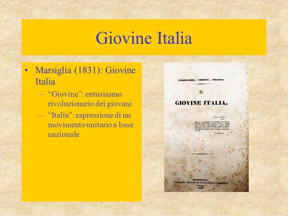 Giovine Italia Marsiglia (1831): Giovine Italia