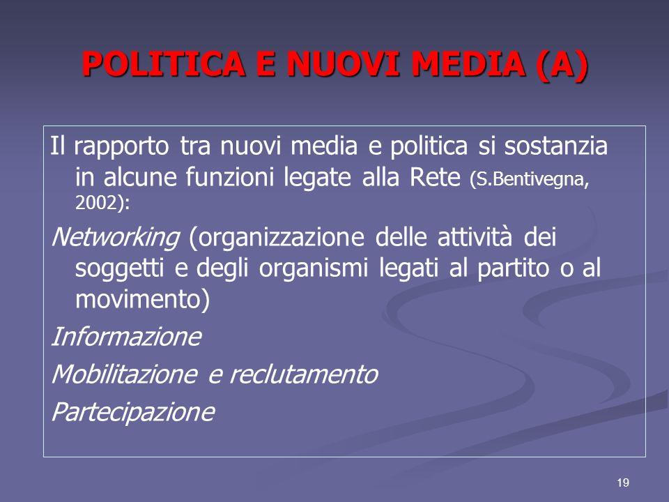 POLITICA E NUOVI MEDIA (A)