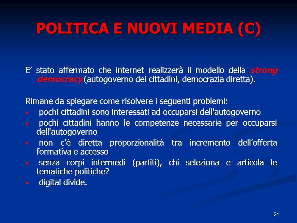POLITICA E NUOVI MEDIA (C)