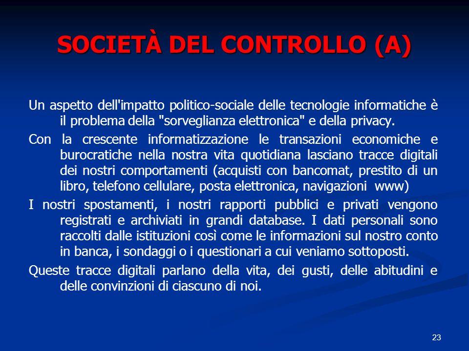 SOCIETÀ DEL CONTROLLO (A)