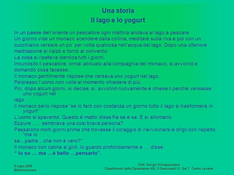 Una storia Il lago e lo yogurt