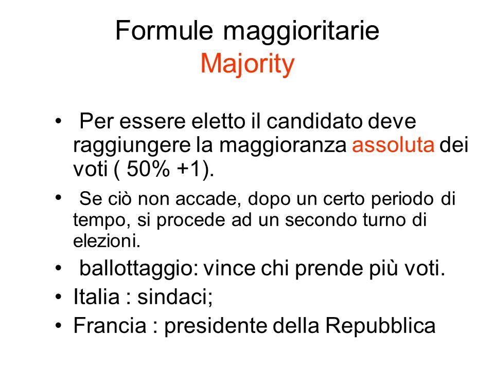 Formule maggioritarie Majority