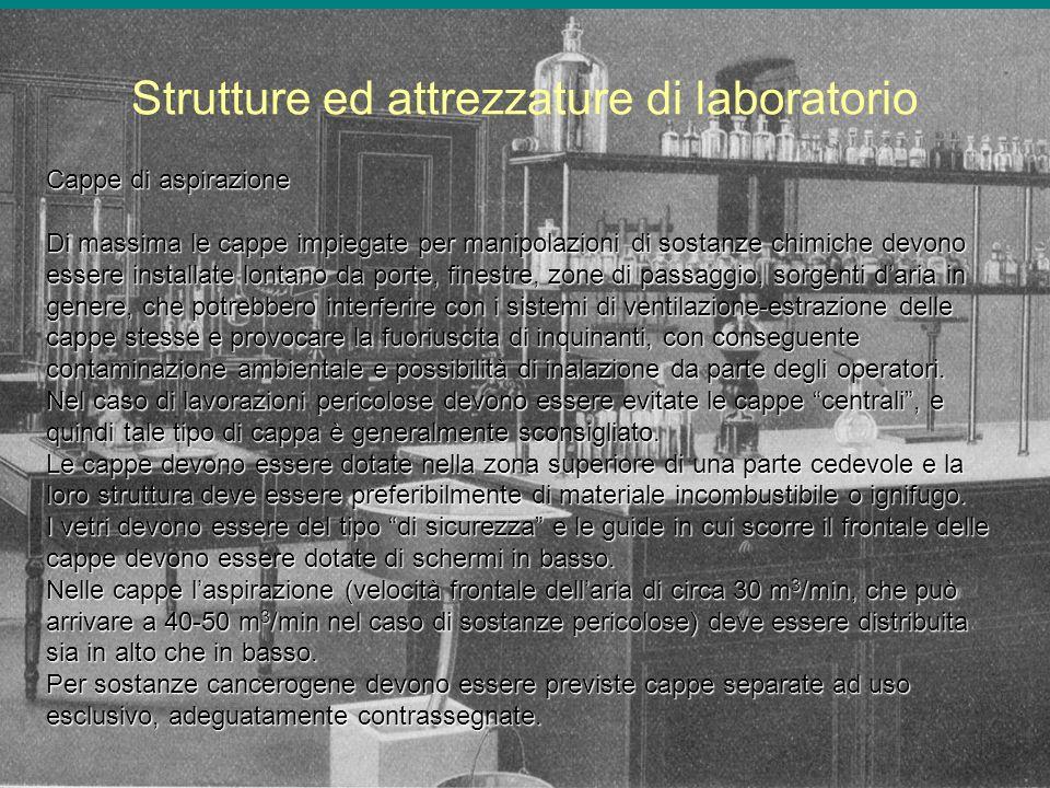 Strutture ed attrezzature di laboratorio