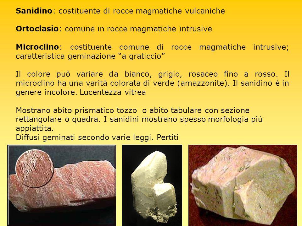 Sanidino: costituente di rocce magmatiche vulcaniche