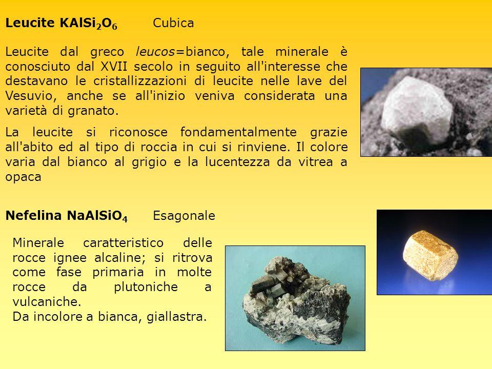 Nefelina NaAlSiO4 Esagonale