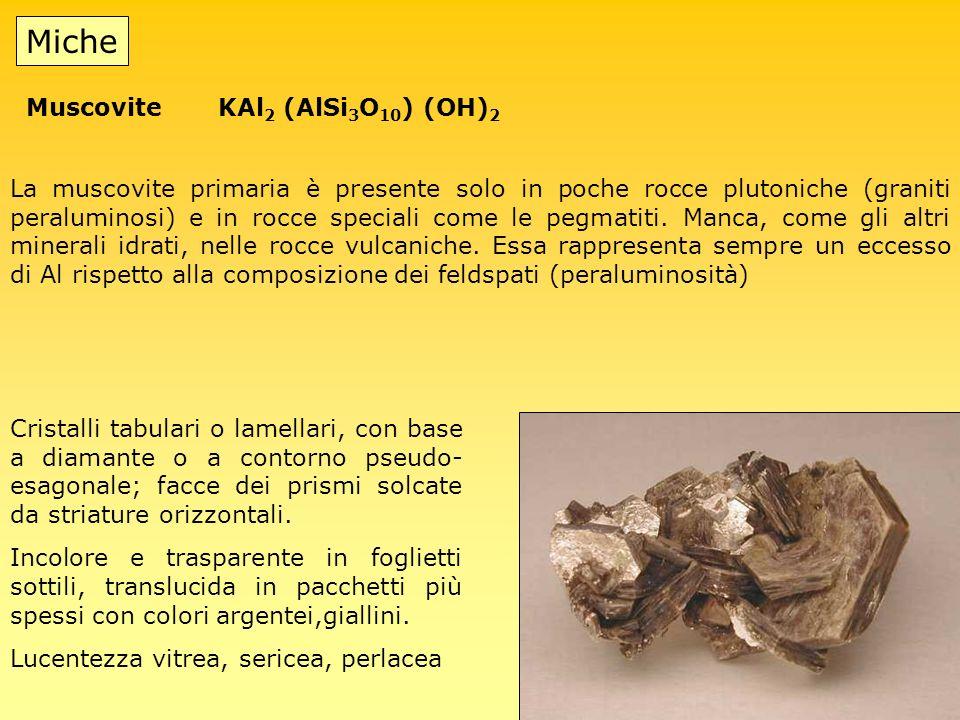Miche Muscovite KAl2 (AlSi3O10) (OH)2