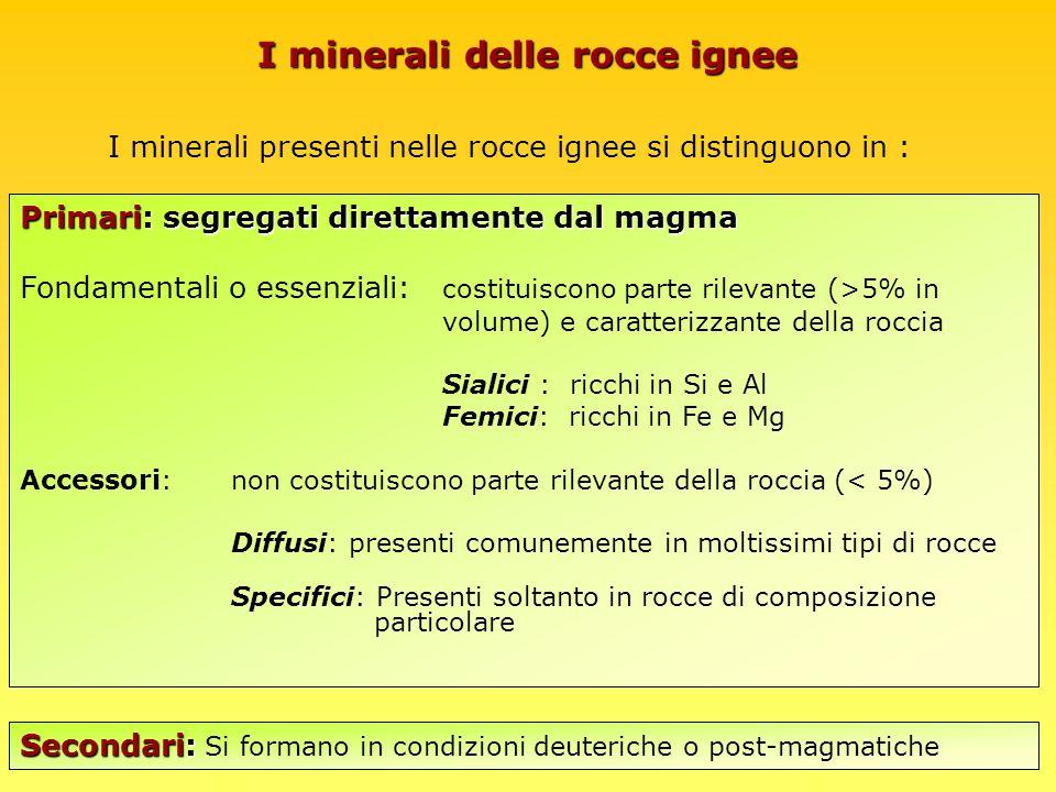 I minerali delle rocce ignee
