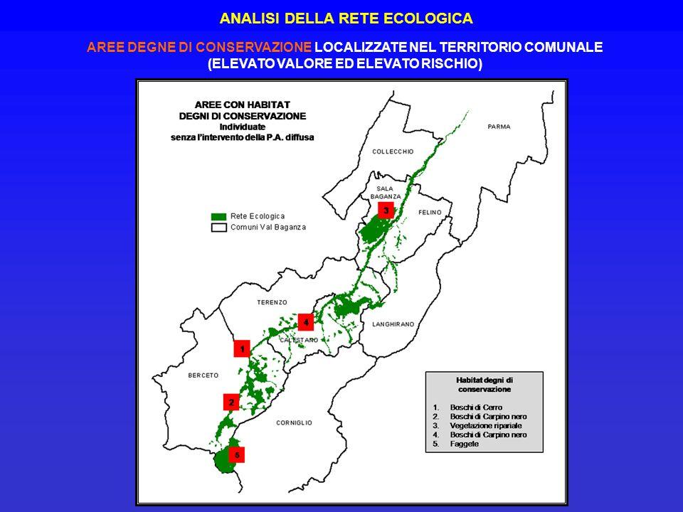 ANALISI DELLA RETE ECOLOGICA