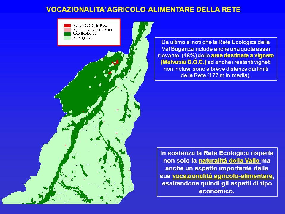 VOCAZIONALITA' AGRICOLO-ALIMENTARE DELLA RETE