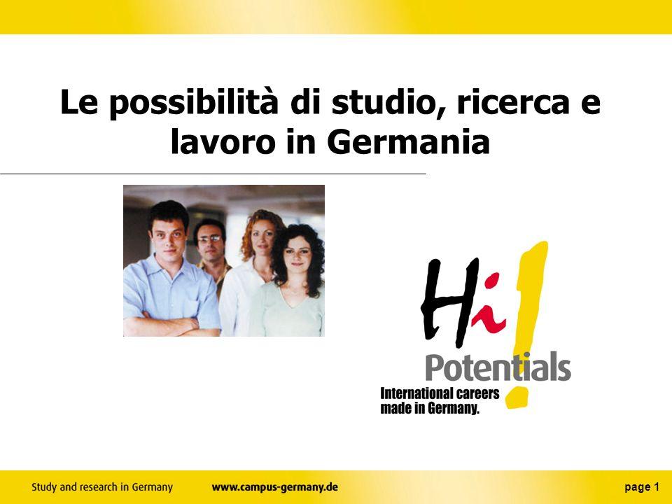 Le possibilità di studio, ricerca e lavoro in Germania