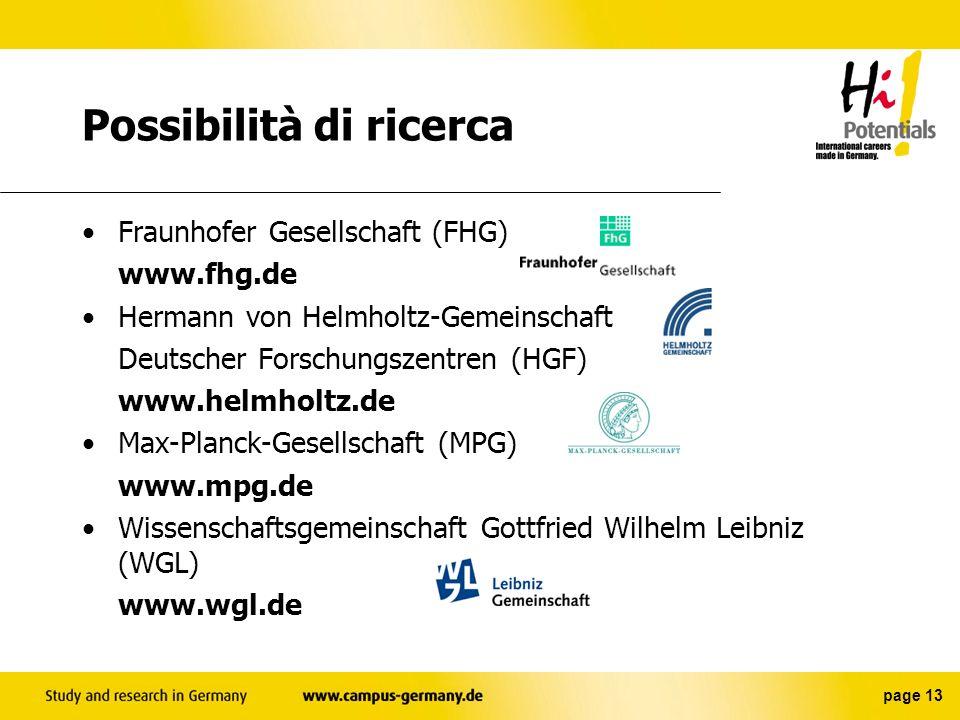 Possibilità di ricerca