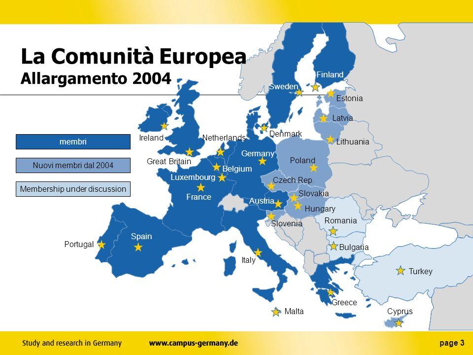 La Comunità Europea Allargamento 2004