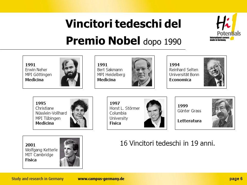 Vincitori tedeschi del Premio Nobel dopo 1990