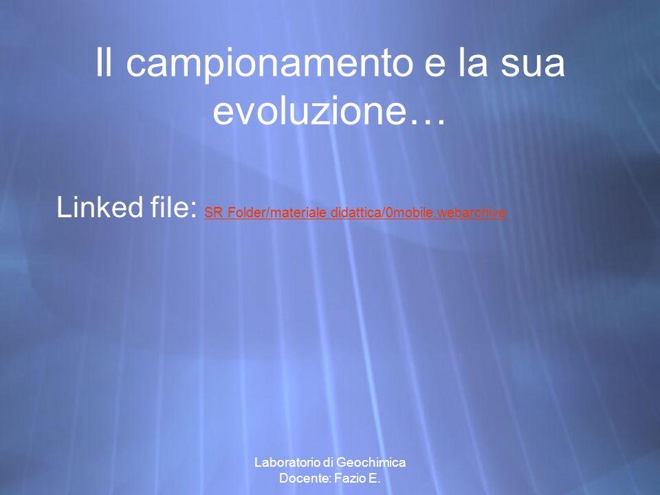 Il campionamento e la sua evoluzione…