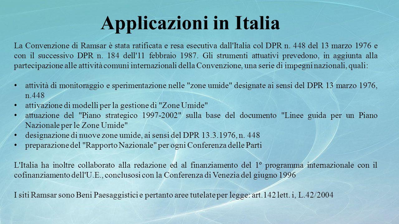 Applicazioni in Italia