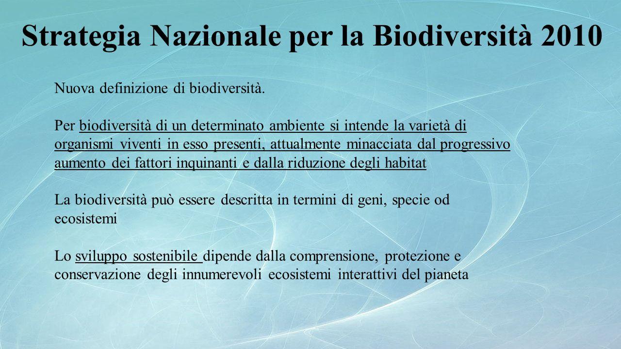 Strategia Nazionale per la Biodiversità 2010