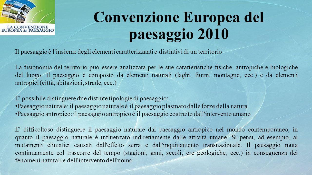Convenzione Europea del paesaggio 2010