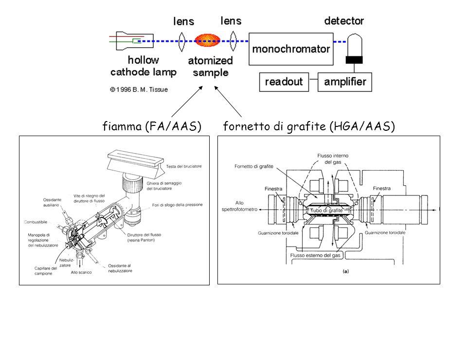 fiamma (FA/AAS) fornetto di grafite (HGA/AAS)