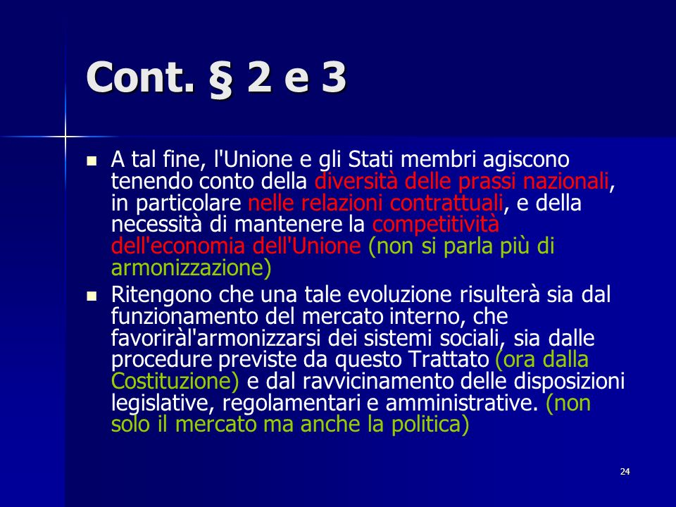 Cont. § 2 e 3