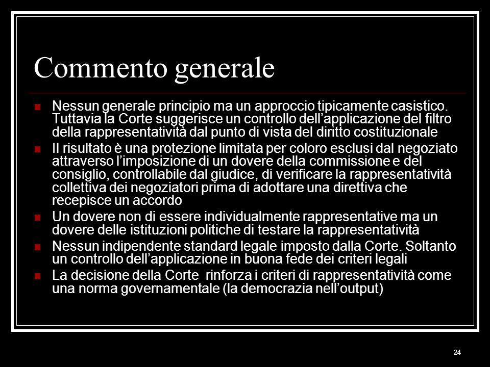 Commento generale