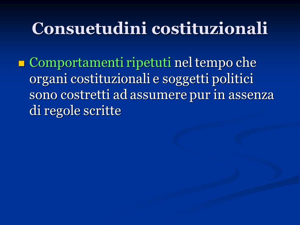 Consuetudini costituzionali