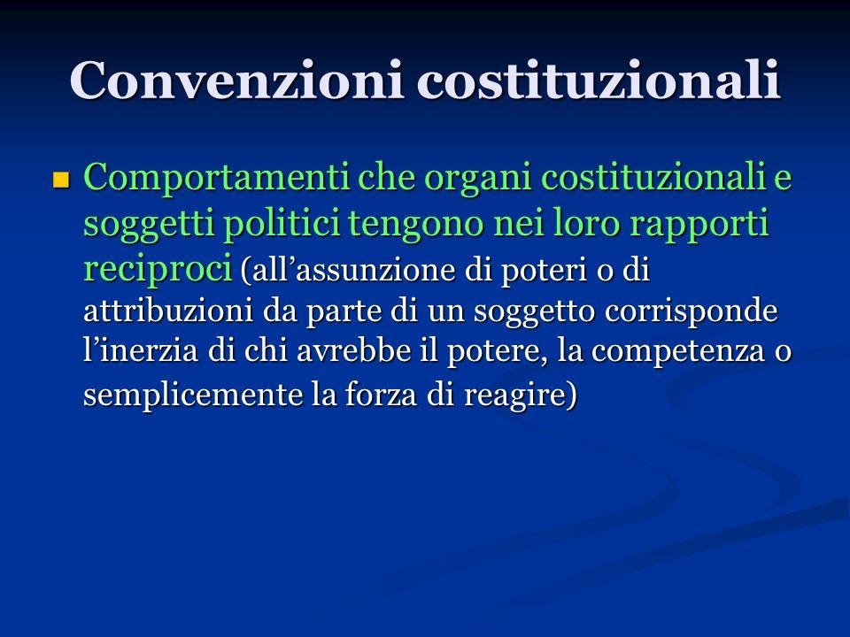 Convenzioni costituzionali