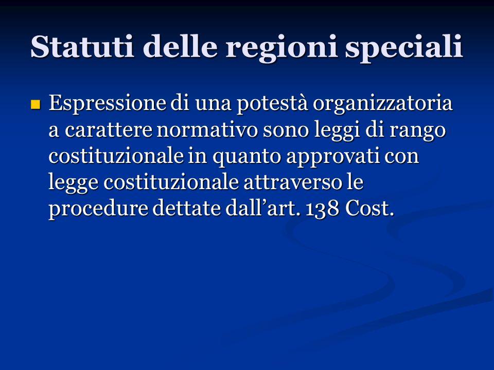 Statuti delle regioni speciali