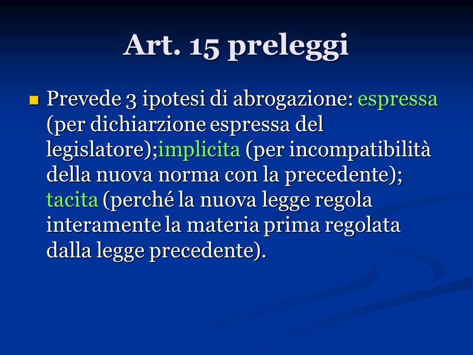 Art. 15 preleggi