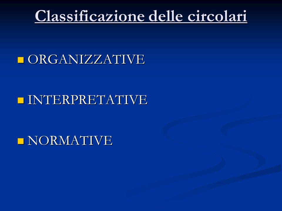 Classificazione delle circolari