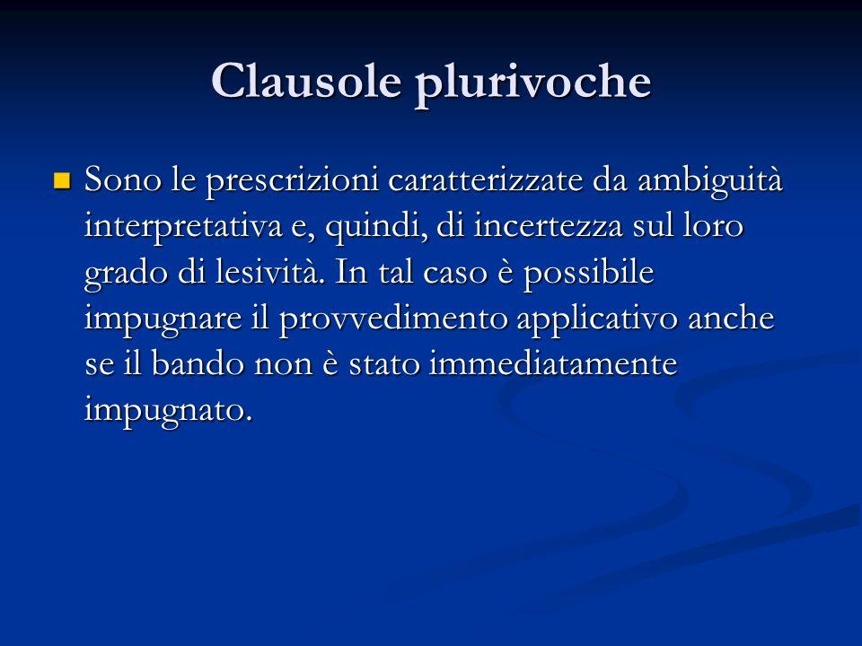 Clausole plurivoche