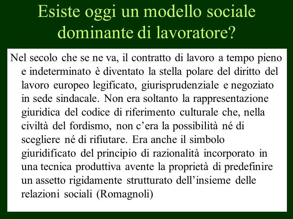 Esiste oggi un modello sociale dominante di lavoratore