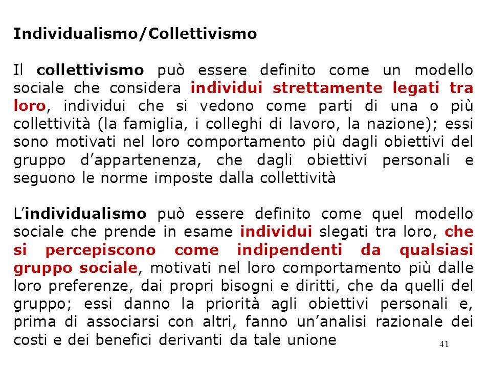 Individualismo/Collettivismo