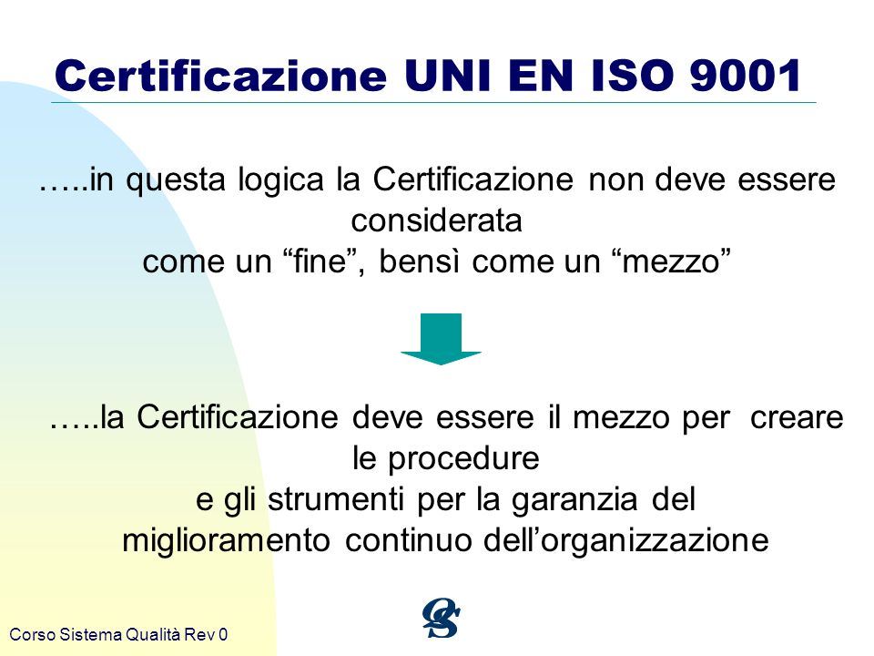 Certificazione UNI EN ISO 9001