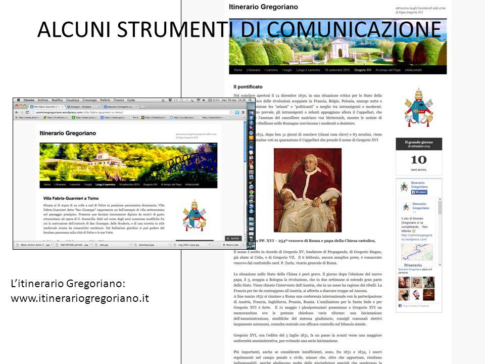 ALCUNI STRUMENTI DI COMUNICAZIONE