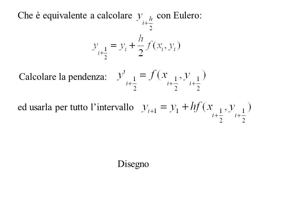 Che è equivalente a calcolare con Eulero:
