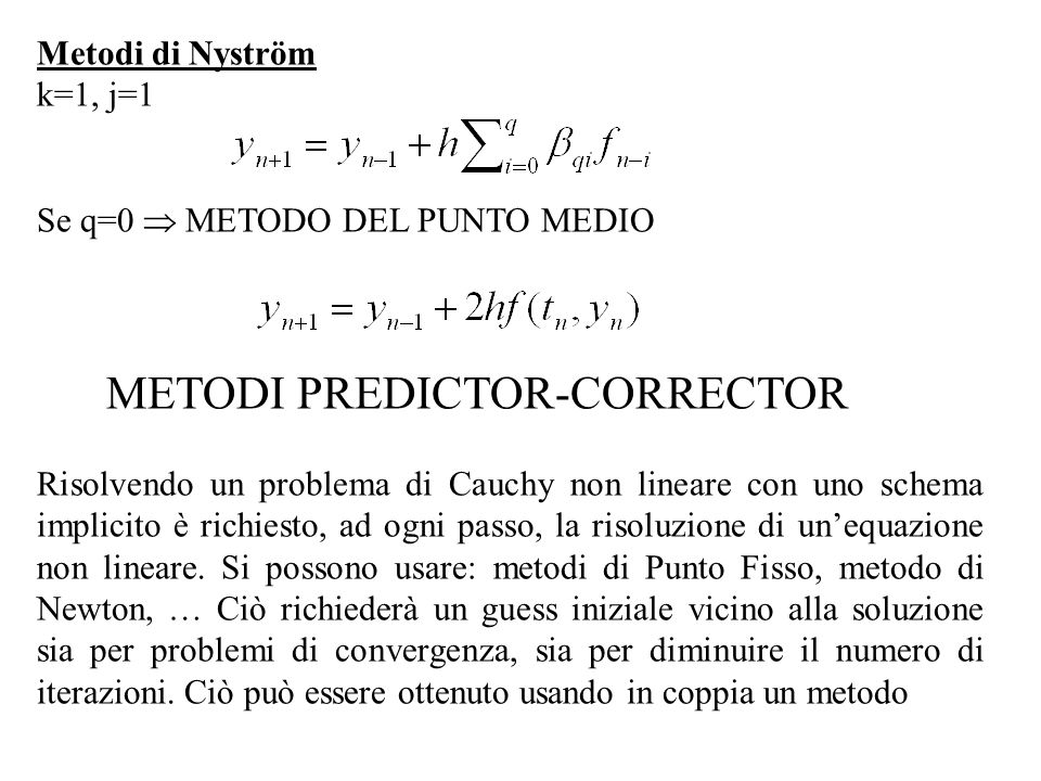 METODI PREDICTOR-CORRECTOR