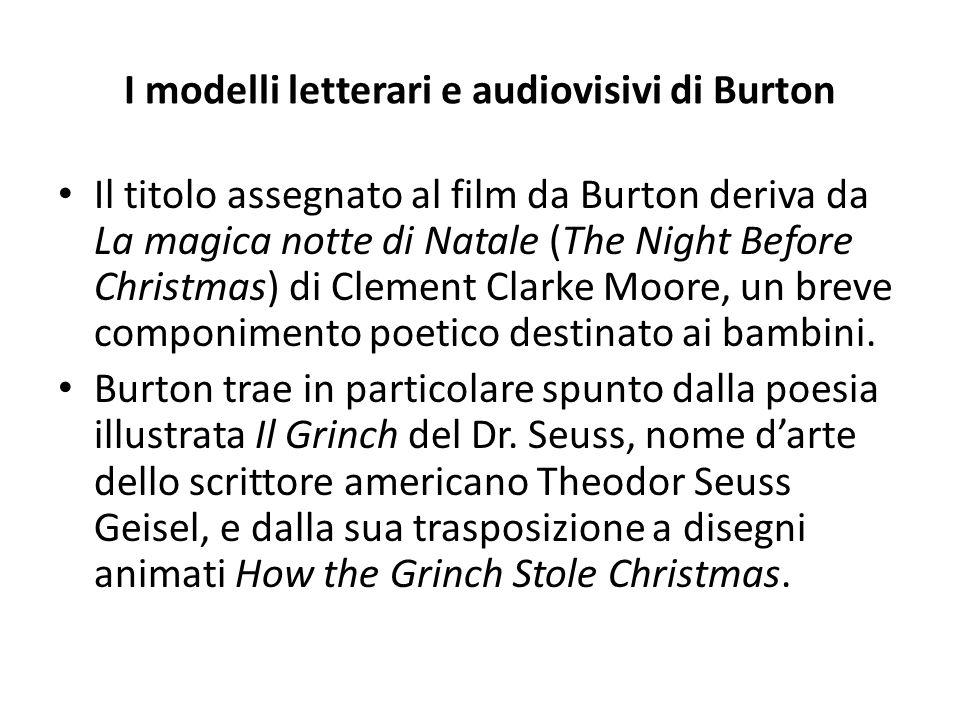 I modelli letterari e audiovisivi di Burton
