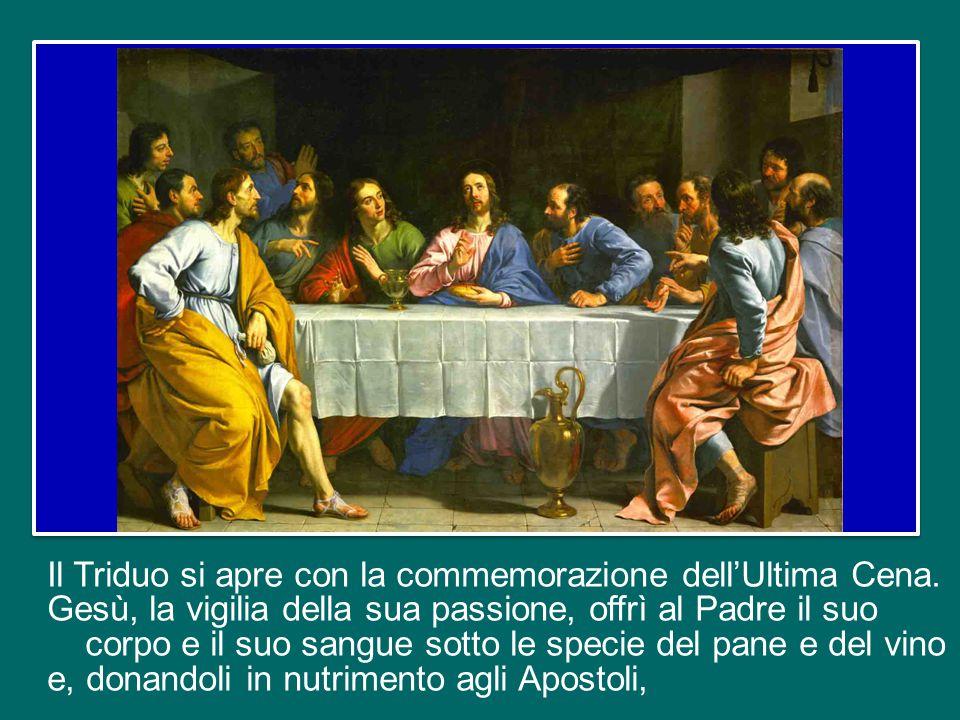 Il Triduo si apre con la commemorazione dell'Ultima Cena