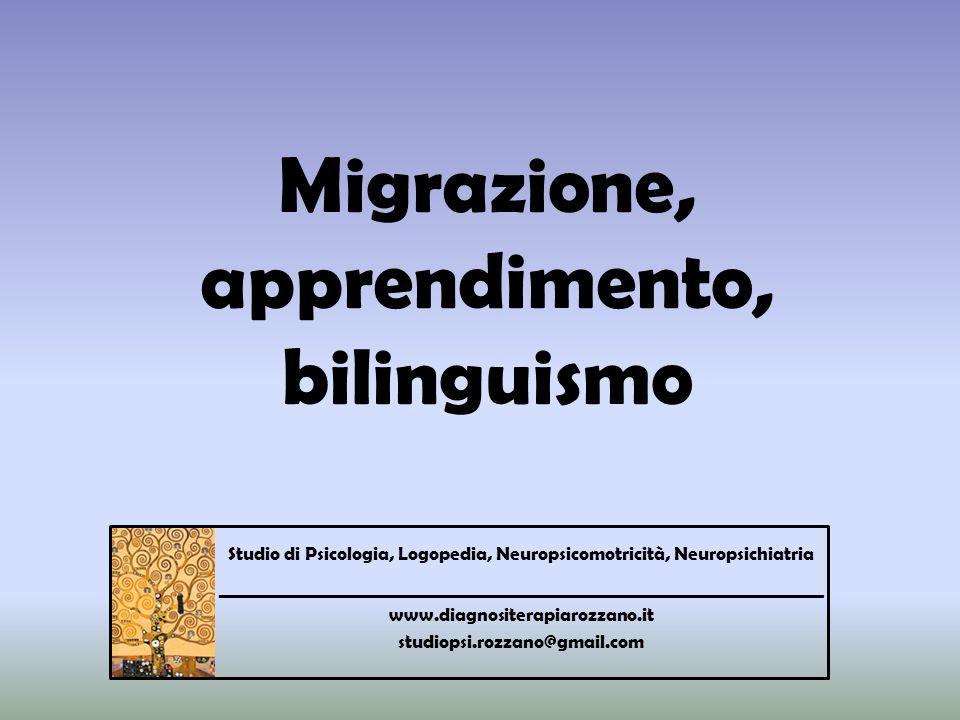 Migrazione, apprendimento, bilinguismo