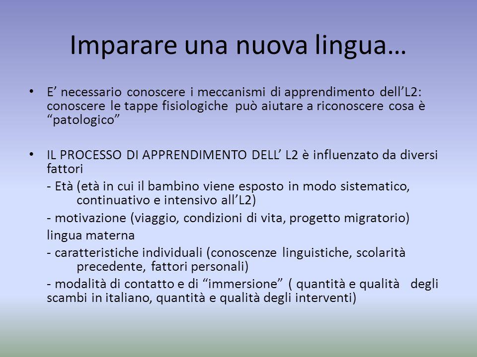 Imparare una nuova lingua…