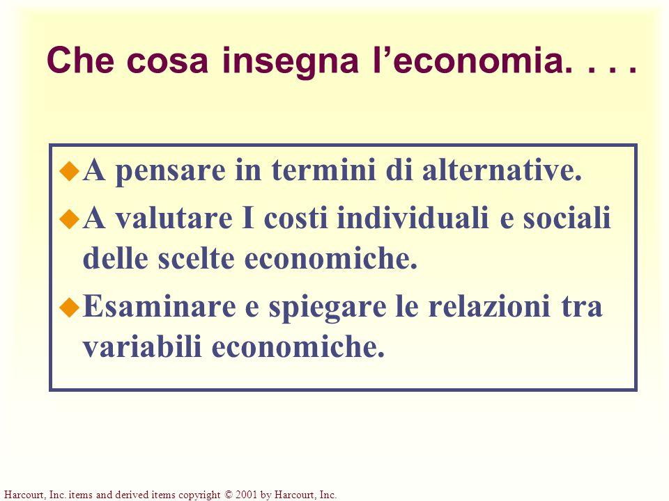 Che cosa insegna l'economia. . . .