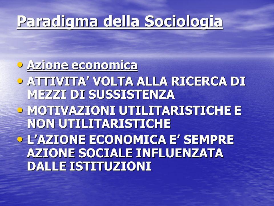 Paradigma della Sociologia