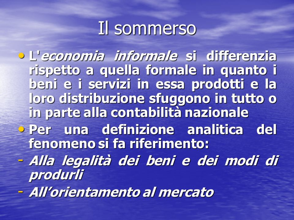 Il sommerso