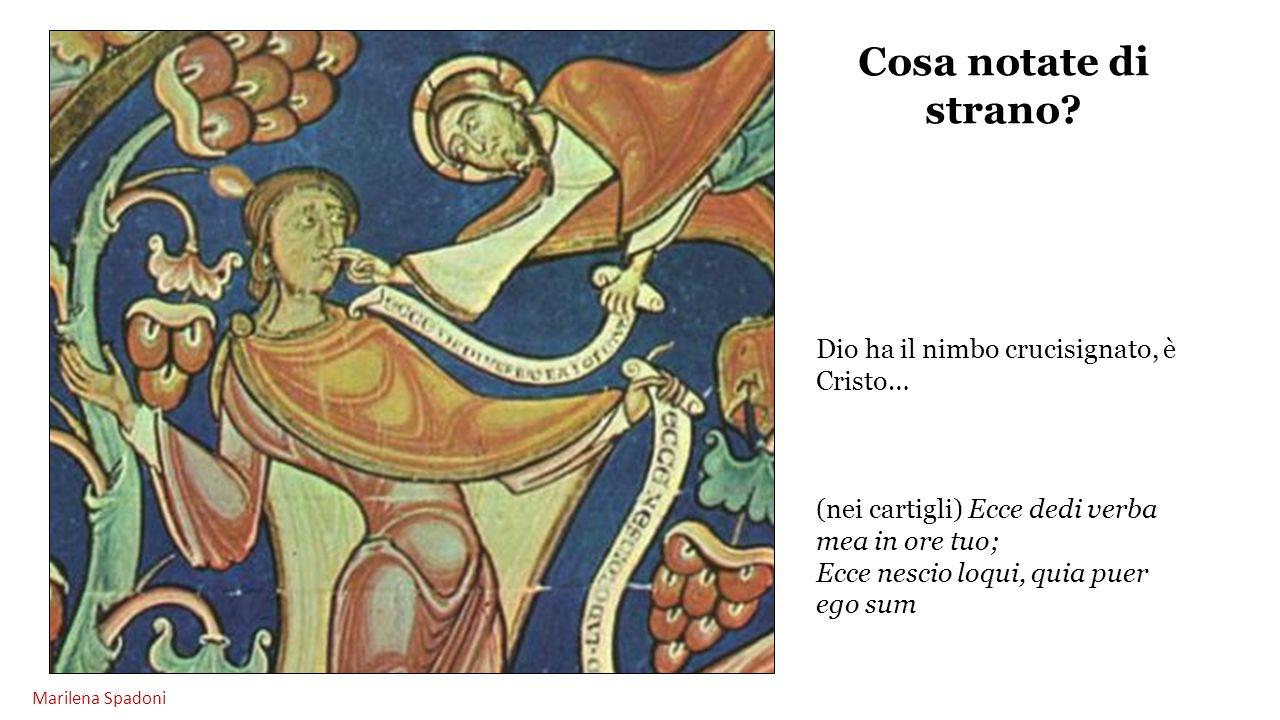 Cosa notate di strano Dio ha il nimbo crucisignato, è Cristo…