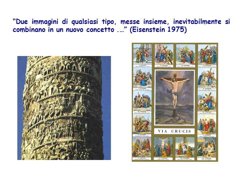 Due immagini di qualsiasi tipo, messe insieme, inevitabilmente si combinano in un nuovo concetto .… (Eisenstein 1975)